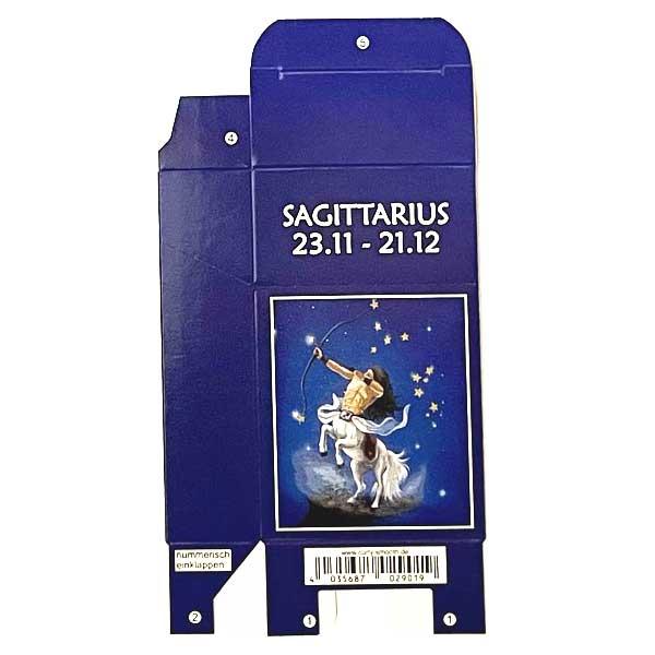 Zigaretten-Faltschachtel Sternzeichen Sagittarius / Schütze Motiv 20er
