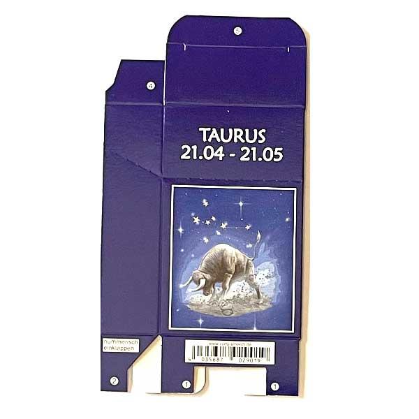 Zigaretten-Faltschachtel Sternzeichen Taurus/Stier Motiv