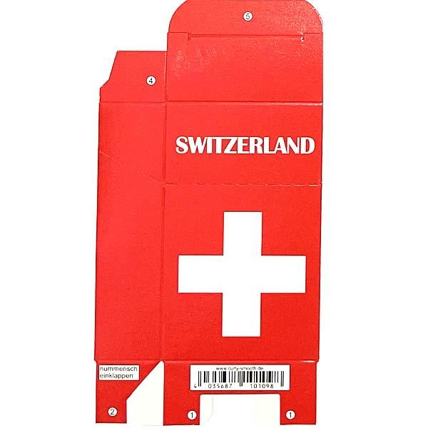 Zigaretten-Faltschachtel Switzerland Kreuz Motiv