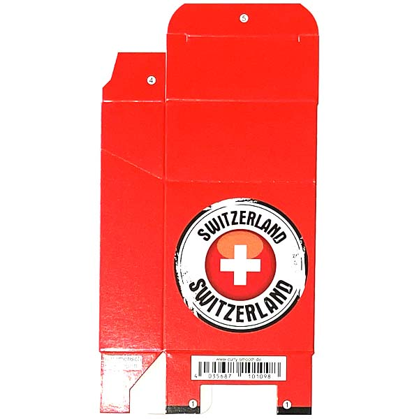 Zigaretten-Faltschachtel Switzerland Kreis Motiv 20er