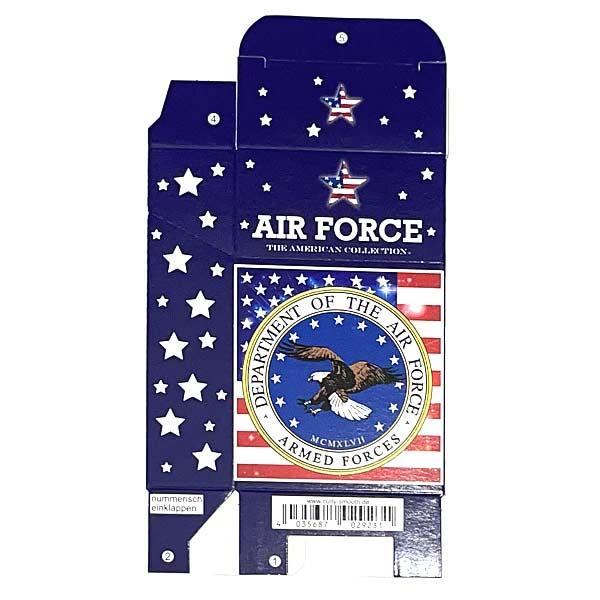 Zigarettenfaltschachtel USA Air Force Motiv 20er