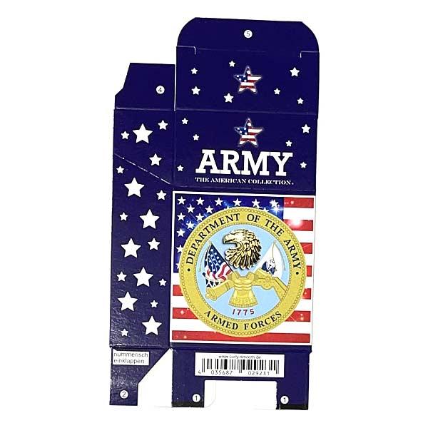 Zigaretten-Faltschachtel USA Army Motiv