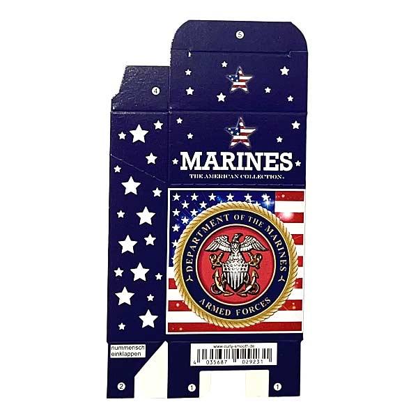 Zigaretten-Faltschachtel USA Marines Motiv