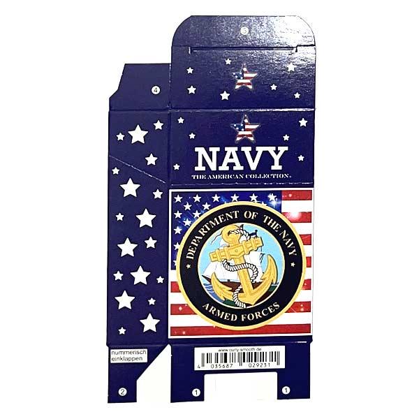 Zigaretten-Faltschachtel USA Navy Motiv