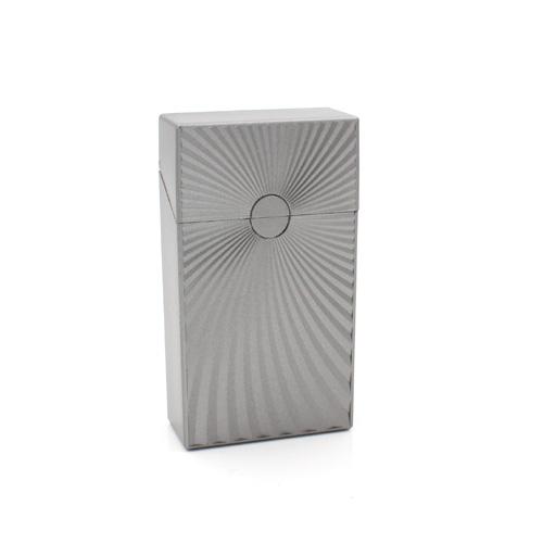 Zigarettenbox 100mm Wellen Design Antrazith