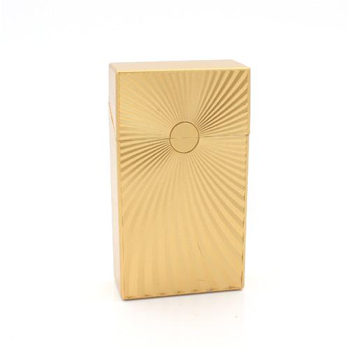 Zigarettenbox 100mm Wellen Design Gold