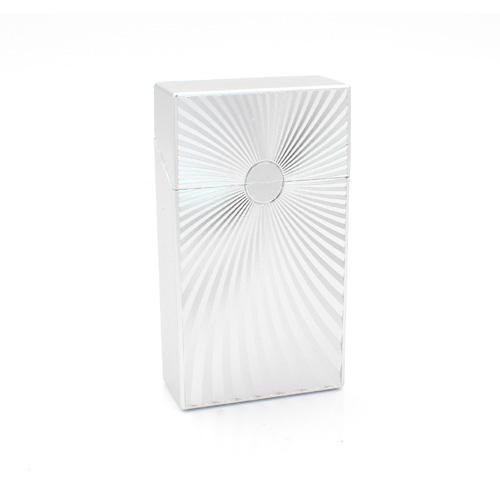 Zigarettenbox 100mm Wellen Design Silber