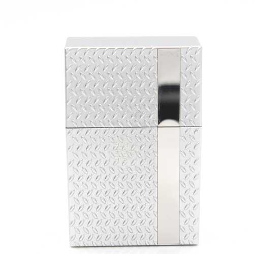 Zigarettenbox Kunststoff Champ Diamond Silber