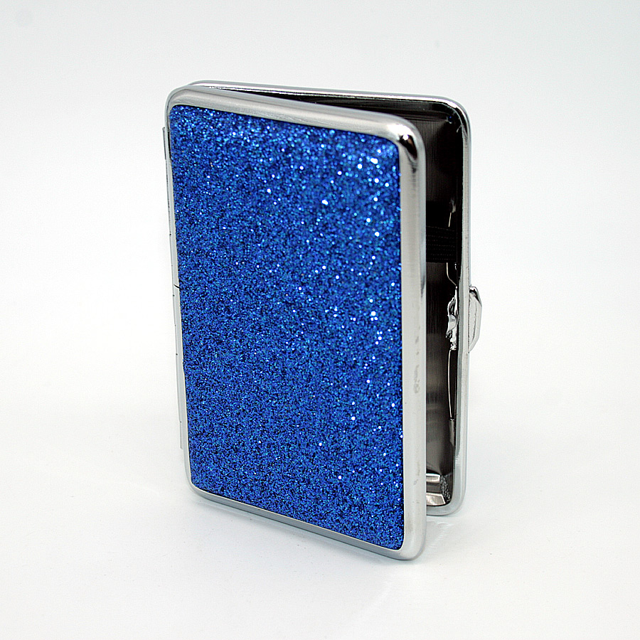 Zigarettenetui It´s cool Glitter, für 14 Zigaretten, blau