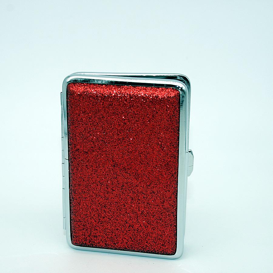 Zigarettenetui It´s cool Glitter, für 14 Zigaretten, rot