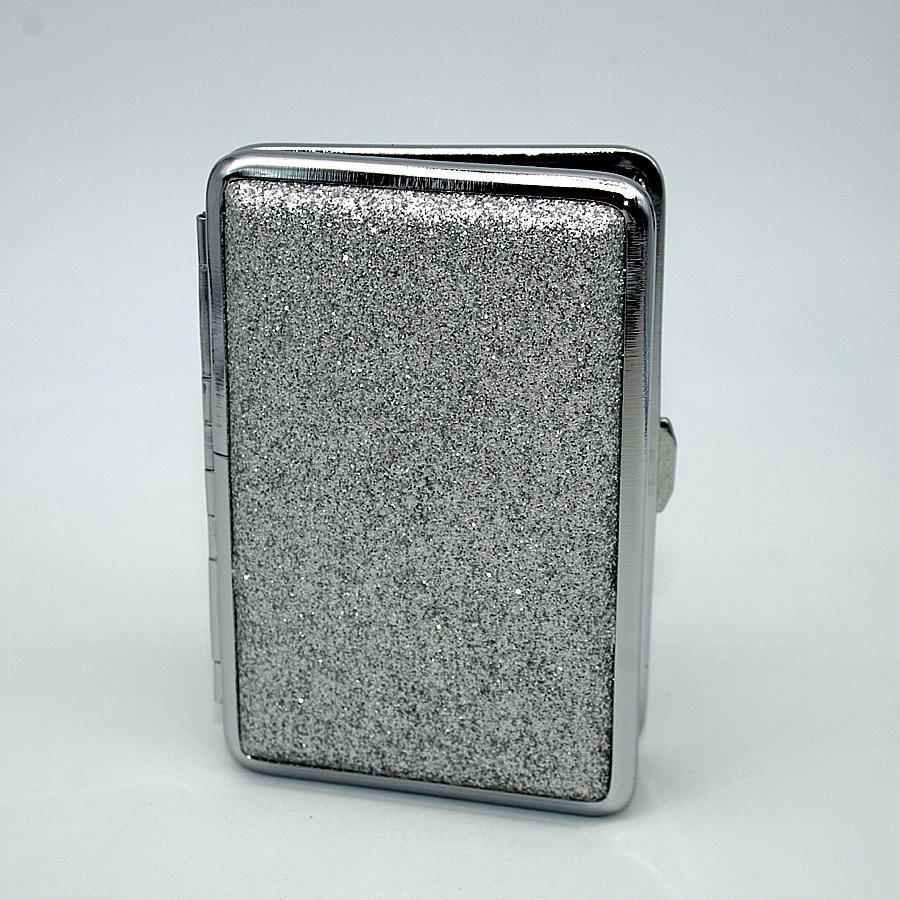 Zigarettenetui It´s cool Glitter, für 14 Zigaretten, silber