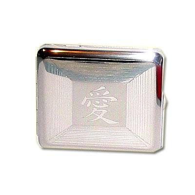 Zigarettenetui Metall mit Chinesischen Schriftzeichen