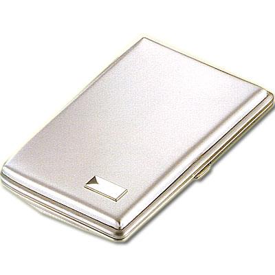 Zigarren-Etui Nickel 5er mit Gravur Feld