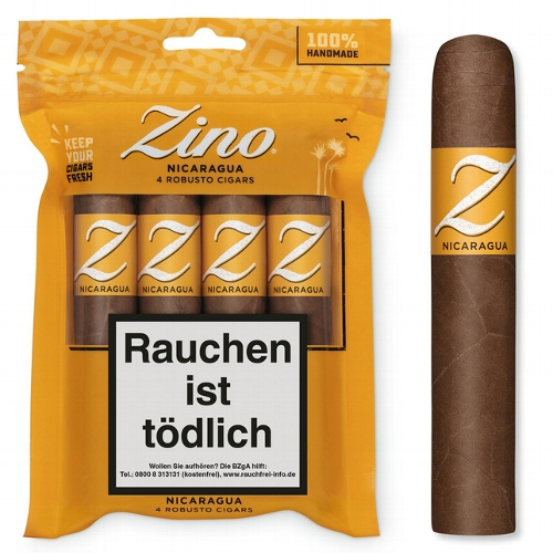 ZINO Nicaragua Robusto Zigarren 4 Stück im Humibag