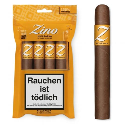 ZINO Nicaragua Toro Zigarren 4 Stück im Humibag