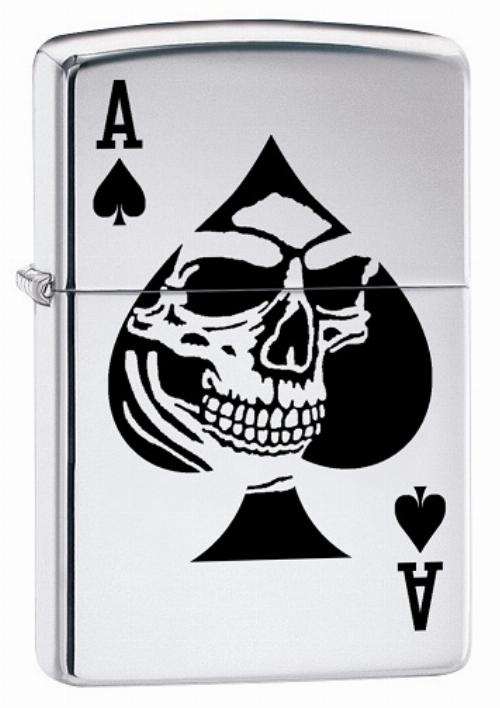 Zippo Feuerzeug Ace of Spade Skull 7