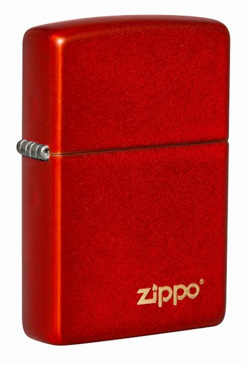 Zippo Feuerzeug Metallic Red with Zippo Logo