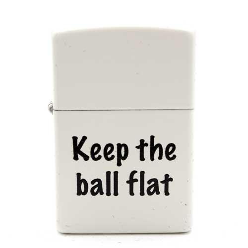 Zippo Feuerzeug mit Aufschrift Keep the Ball Flat