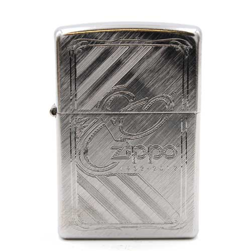 Zippo Feuerzeug Silber mit Muster