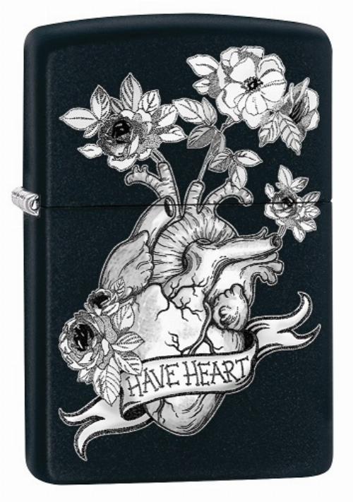 Zippo Feuerzeug Tattoo Heart Floral