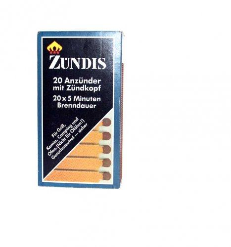 Zündis Anzünder mit Zündkopf 20 Stück