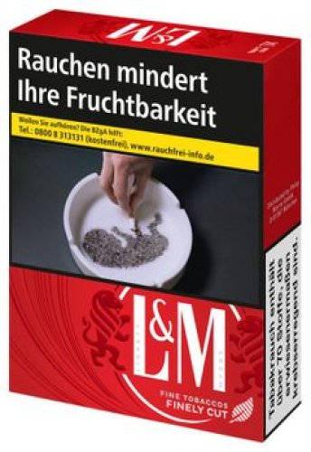 Einzelpackung L&M Red Label 4XL-Box  (1x38)