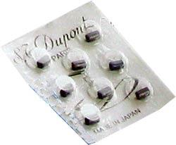 Dupont grau Feuerzeugsteine