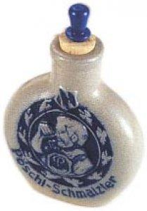 Steingut Schnupftabak-Flasche 4B