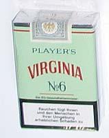 Players Virginia No 6 Zigaretten (ARTIKEL WIRD NICHT MEHR HERGESTELLT)