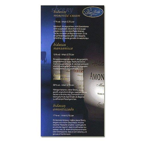 Sherry Hidalgo Amontillado Spirituosen (Artikel wird nicht mehr hergestellt)