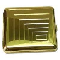 Zigaretten Etui 18er Vergoldet Quadrat