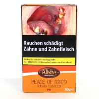 Alisha Peach (Peace of Mind) 50g Packung Shisha Tabak