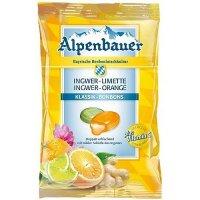 Alpenbauer Ingwer Limette, Ingwer Orange Bio Bonbons 90g Beutel
