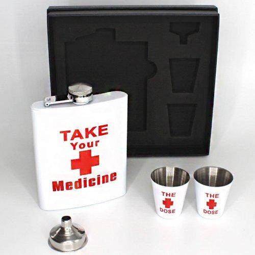 Angelo Flachmann Set Take your medicine 6oz.