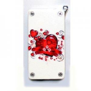 Atomic Herzen Mini-Piezo Weiß Feuerzeug
