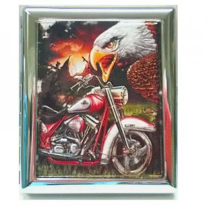 Atomic Zigarettenetui American Eagle Rot