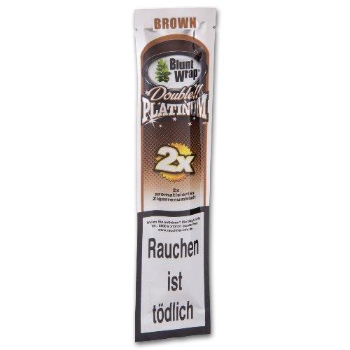 Blunt Wraps Zigarettenpapier Double Platinum Brown (Chocolate)