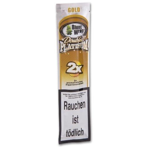 Blunt Wraps Zigarettenpapier Double Platinum Gold (Wild Honey)