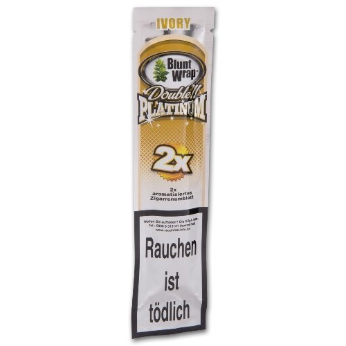 Blunt Wraps Zigarettenpapier Double Platinum Ivory (French Vanilla)