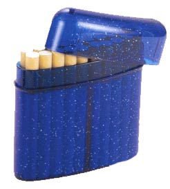 Body Disco blau Zigaretten-Box