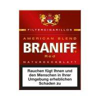 Braniff Filterzigarillos American-Blend Red Big mit Naturdeckblatt 23er