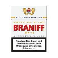Braniff Filterzigarillos American-Blend White Big mit Naturdeckblatt 23er