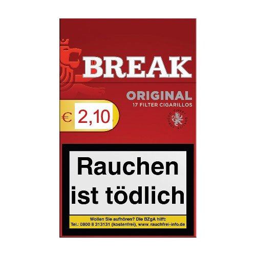 Break Original Filterzigarillos Rot Full Flavour 17er