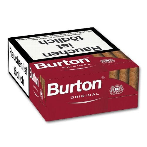 Burton Filter Cigarillos Original Naturdeckblatt XL-Box 25er