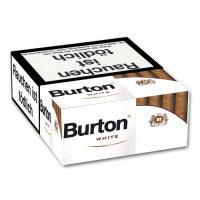 Burton Filter Cigarillos White mit Naturdeckblatt 25er