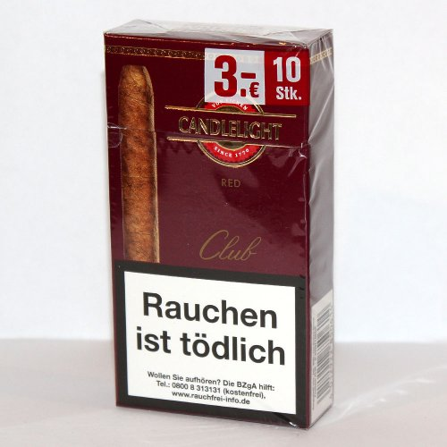 Candlelight Zigarren Club Red (Cherry) 10er