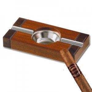 Cigarren-Ascher Nussbaum-Dekor