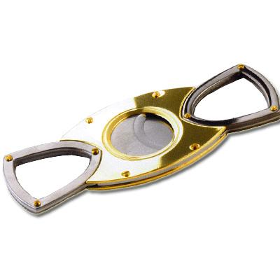 Cigarren-Cutter Chrom Gold 22 mm