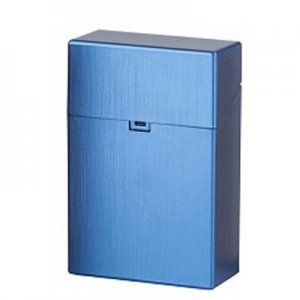 Clic Box Zigarettenbox 20er Metallikfarbig Blau