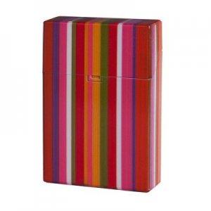 Clic Box Zigarettenbox 20er Orange Streifen